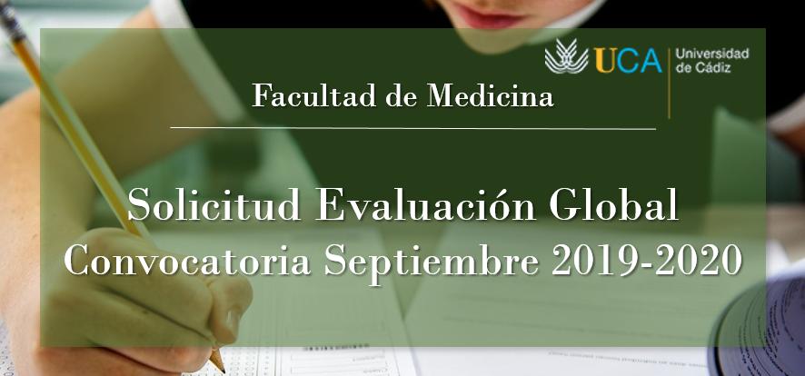 Abierto el plazo de solicitud de Evaluación Global para la convocatoria de Septiembre 2019-2020