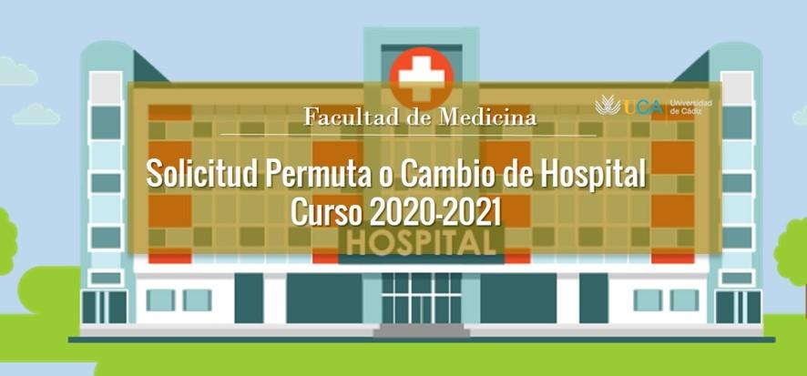Abierto el plazo de solicitud de Permuta o Cambio de Hospital para el curso 2020-2021