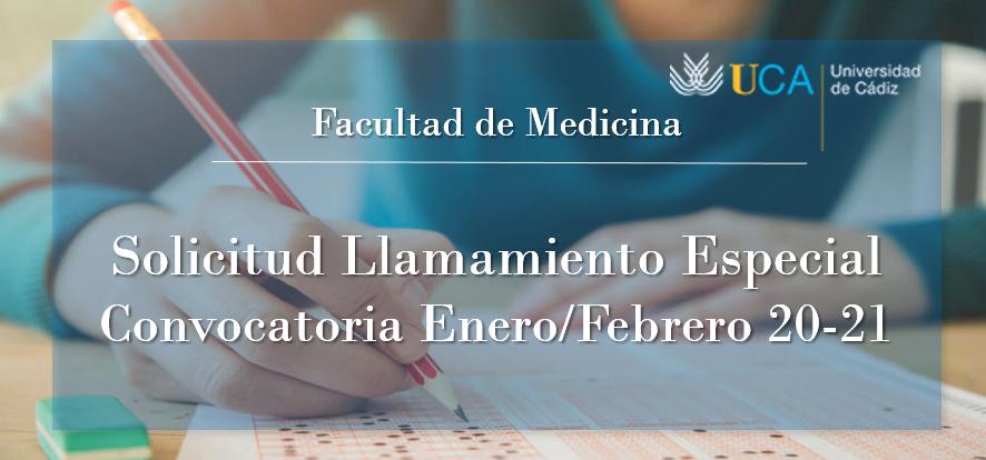 Solicitud de Llamamiento Especial para los Exámenes de Enero/Febrero 2020-2021
