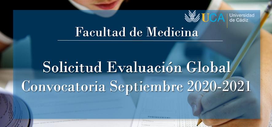 Solicitud de Evaluación Global convocatoria septiembre 2020-2021